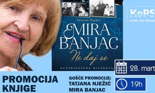 Promocija knjige o Miri Banjac
