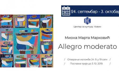 Миона Марта Марковић - Allegro moderato
